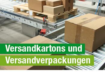 Versandkartons und Versandverpackungen