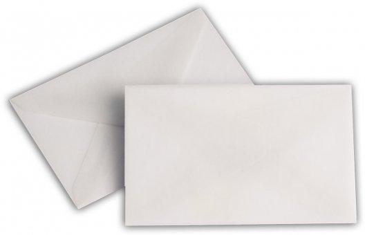 Transparent Briefhüllen SO 62/98 mm weiß