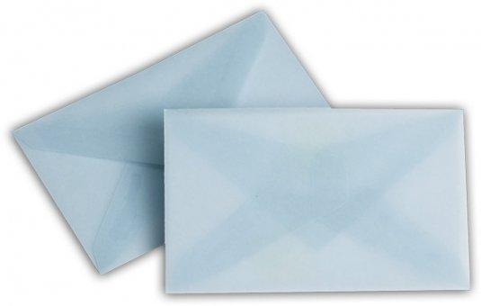 Transparent Briefhüllen SO 62/98 mm eisblau
