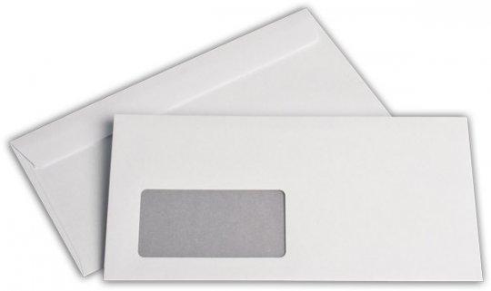 Fensterbriefhüllen C 6/5 114/229 mm weiß