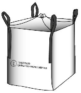 Gefahrgut UN-Big-Bag 13H3 Y 90 x 90 x 110 cm