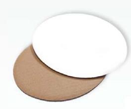 Dekoplatte klein 200 x 150 mm - weiß/braun