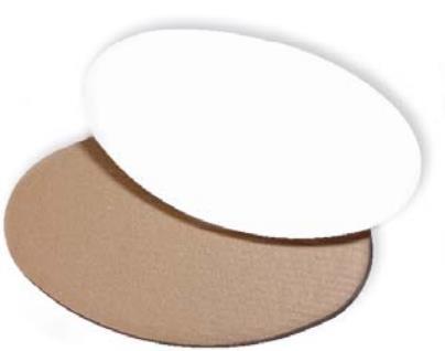 Dekoplatte mittel 300 x 200 mm - weiß/braun