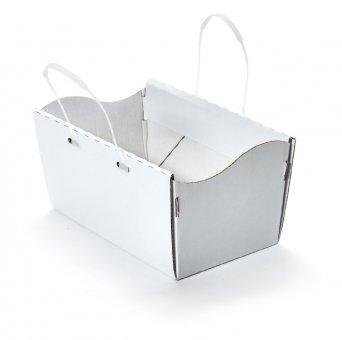 MULTI-Cargo Tragekarton mit Kunststoff-Henkeln weiß uno