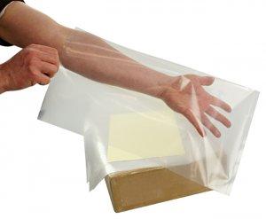 LDPE Seitenfaltensäcke 415 + 315 x 650 x 0,034 mm, transparent