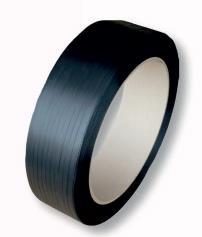 PP-Umreifungsband 16,0 x 0,65 mm, Kern 406 mm Großrolle SCHWARZ
