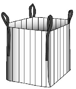 Holz-Big-Bag 100 x 100 x 165 cm