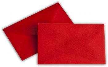 Transparent Briefhüllen SO 62/98 mm intensivrot
