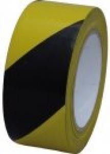 PVC-Bodenmarkierungsband 50 mm x 33 lfm, schwarz/gelb