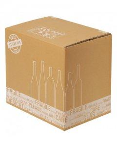 Weinversandkarton für 3 Flasche Karton Wein Flaschen Versandkarton PTZ geprüft